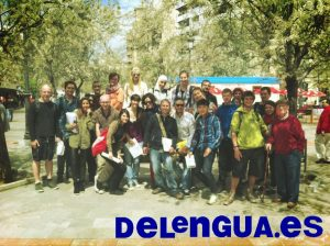 Escuela Delengua students at Granada's 32nd annual book fair