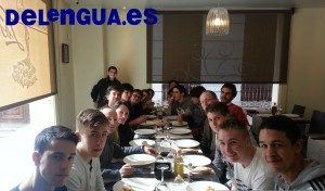 City of London School for Boys enjoy typical Spanish food in Granada
