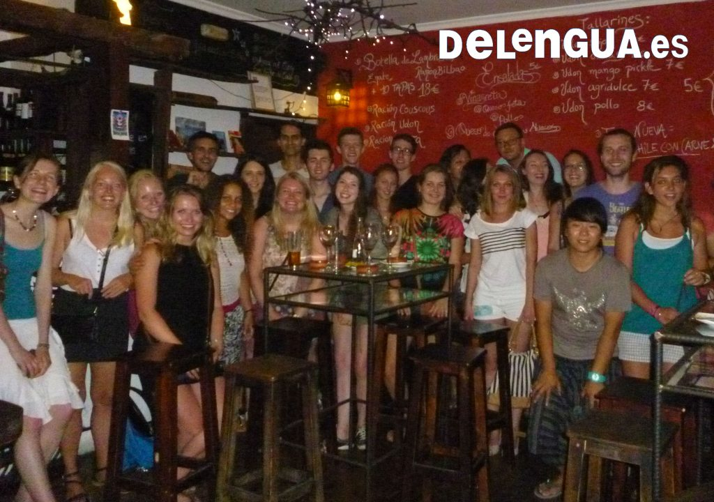 Students go out for drinks with the school